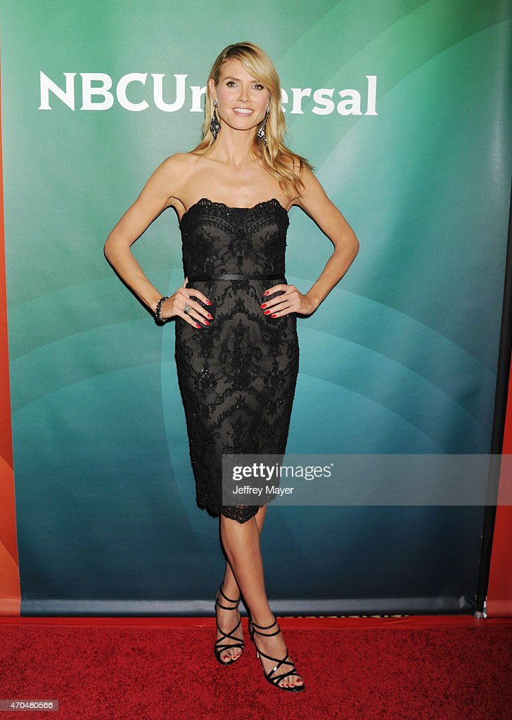 TV personality/model Heidi Klum attends the 2015 NBCUniversal Summer Press Day held at the The Langham Huntington Hotel and Spa on April 02, 2015 in Pasadena, California.
