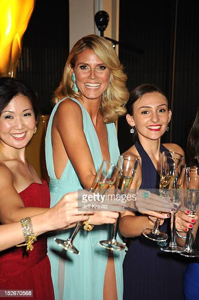 Personality/model Heidi Klum attends the 64th Primetime Emmy Awards Governors Ball at Los Angeles Convention Center on September 23, 2012 in Los...