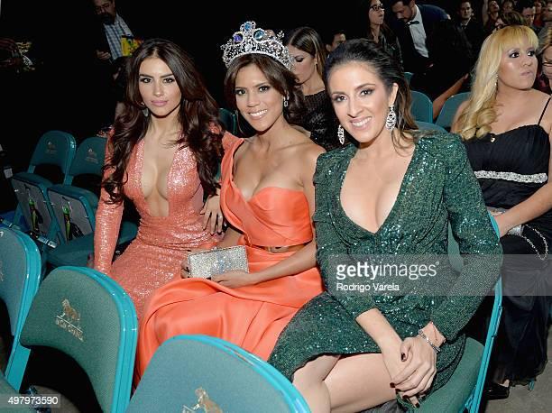 TV personality/model Jessica Cediel Nuestra Belleza Latina 2015 Francisca Lachapel and journalist Maity Interiano attend the 16th Latin GRAMMY Awards...