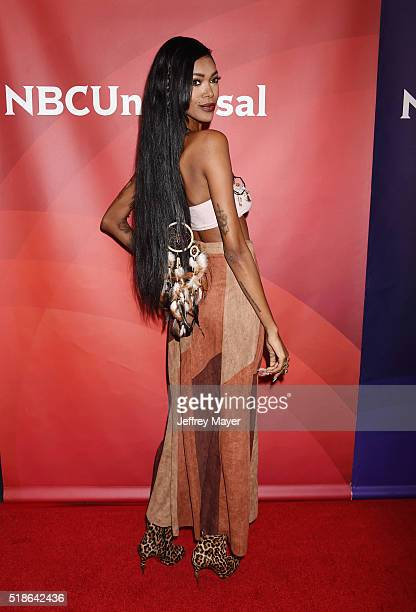 Personality/model Jessica White arrives at the 2016 Summer TCA Tour - NBCUniversal Press Tour at the Four Seasons Hotel - Westlake Village on April...