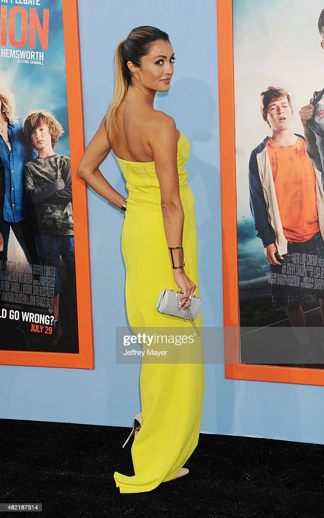 TV personality/model Katie Cleary arrives at the Premiere Of Warner Bros. 'Vacation' at Regency Village Theatre on July 27, 2015 in Westwood, California.