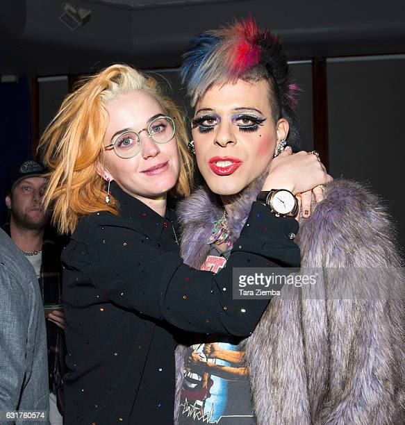Personality/pop artist Sham Ibrahim and singer Katy Perry attend Club Liz at Oscar's on January 14 2017 in Palm Springs California