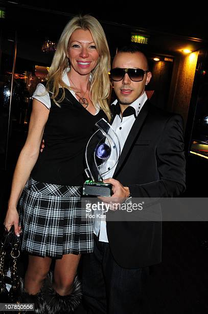 TV personality/presenter/former X actress Nadine Rodd and singer Mickael Lucenzo attend the Trophees de La Nuit 2010 Night Clubbing Awards at the...