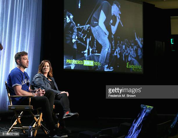 Personality/recording artist Mike Stud and producer Alexandra Lipsitz speak onstage during the 'This is Mike Stud' panel at the 2016 NBCUniversal...