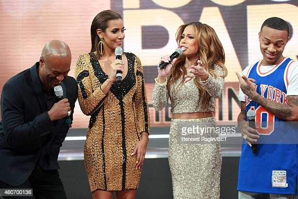 Personality's Tigger Julissa Bermudez Keshia Chante and Shad Moss host 106 Park Finale at CBS Studios on December 19 2014 in New York City