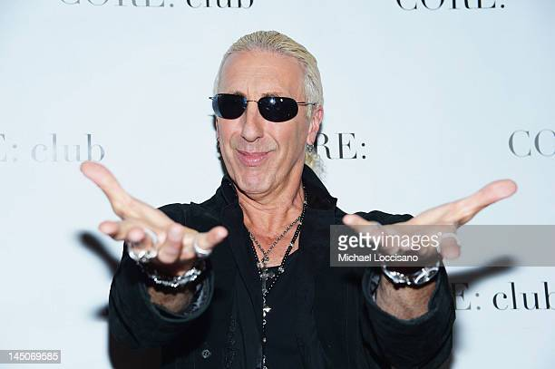 Personality/Singer Dee Snider attends an Exclusive Panel Discussion as Celebrity Apprentice Contestants Reunite at CORE club on May 22 2012 in New...