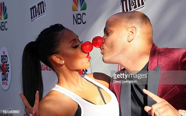 TV personality/singer Mel B and husband producer Stephen Belafonte attend the Red Nose Day Special on NBC at the Alfred Hitchcock Theater at Alfred...
