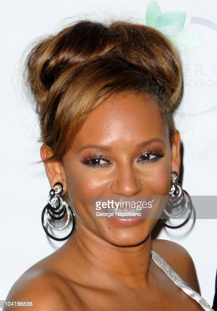 TV personality/singer Mel B attends the Farber Center for Radiation Oncology's Rocks Against Cancer fundraiser at The Angel Orensanz Foundation on...