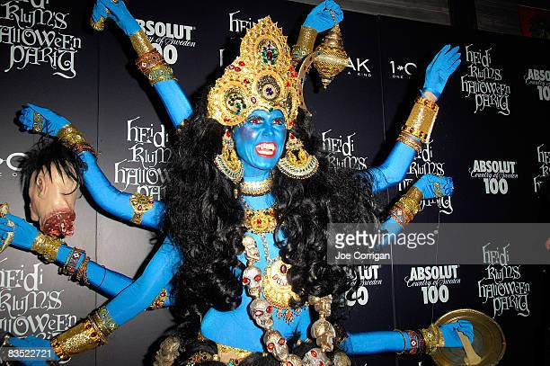 TV personality/supermodel Heidi Klum attends her 9th annual Halloween party presented by Absolut 100 at 1 OAK on October 31 2008 in New York City