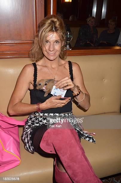 TV personality/writer Frigide Barjot attends the Prix De Flore Literary Award 2011 ceremony party at the Cafe de Flore on November 3 2011 Paris France