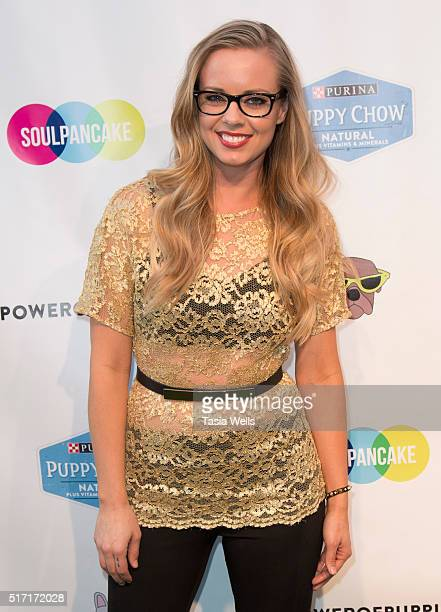 Personality/YouTuber Misty Kingma attends SoulPancake's Puppypalooza Party at SoulPancakes Headquarters on March 23 2016 in Los Angeles California
