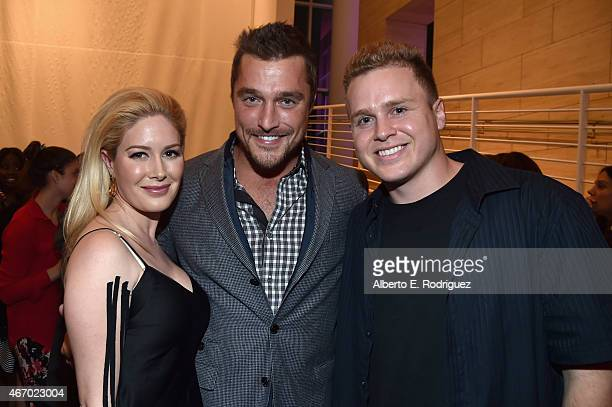 TV personatlities Heidi Montag Chris Soules and Spencer Pratt attend the WE tv presents 'The Evolution of The Relationship Reality Show' at The Paley...