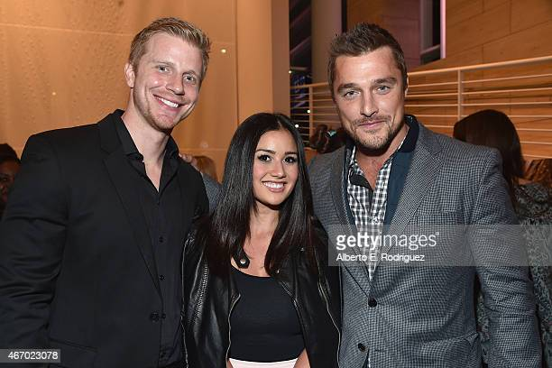 TV personatlities Sean Lowe Catherine Lowe and Chris Soules attend the WE tv presents 'The Evolution of The Relationship Reality Show' at The Paley...