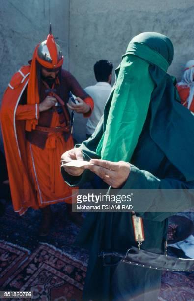 Personnage de la foi musulmane Iman dans la pièce de théâtre sur la fête de l'Achoura en février 1993 à Téhéran Iran