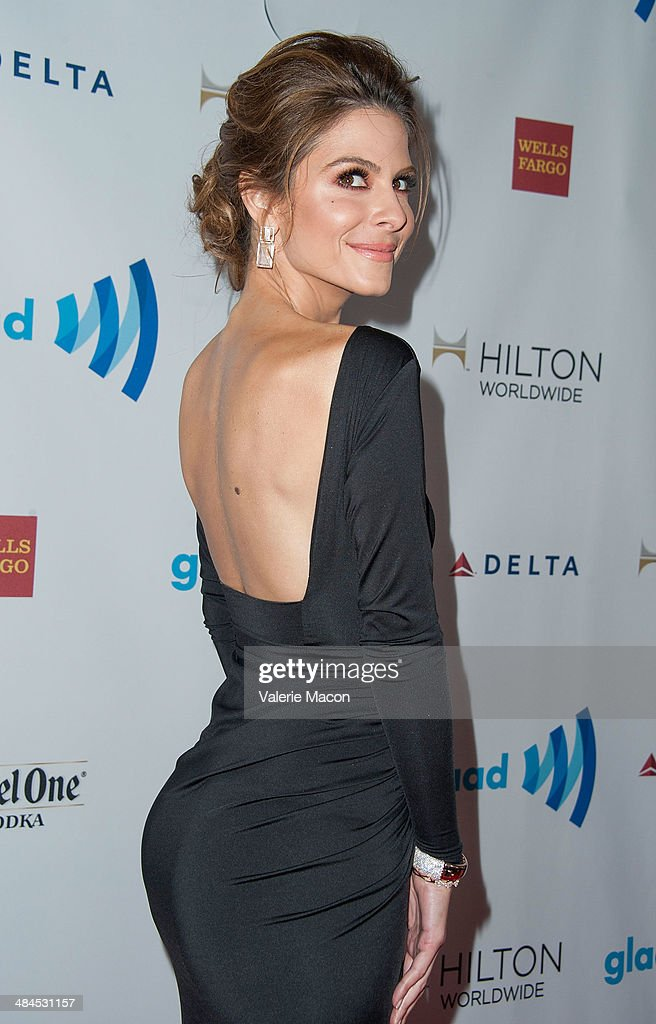 TV Personnality Maria Menounos arrives at the 25th Annual GLAAD Media Awards at The Beverly Hilton Hotel on April 12, 2014 in Beverly Hills, California.