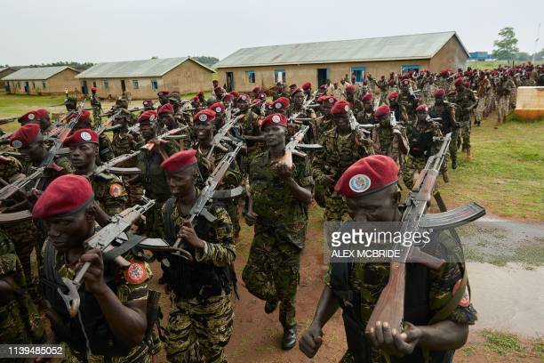 Personnel of the South Sudan People's Defence Forces , formerly named Sudan People's Liberation Army , assigned as South Sundan's presidential guard,...