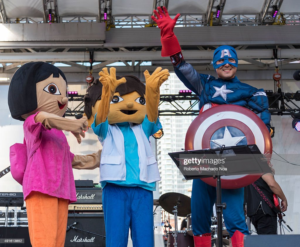 Persons dressed as cartoon and gaming characters standing on... : News Photo