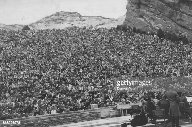 APR 14 1952 ***** 14000 persons Jammed into Red Rocks Park Amphitheater Sunday Morning for Easter Sunrise Services Other Thousands attended similar...