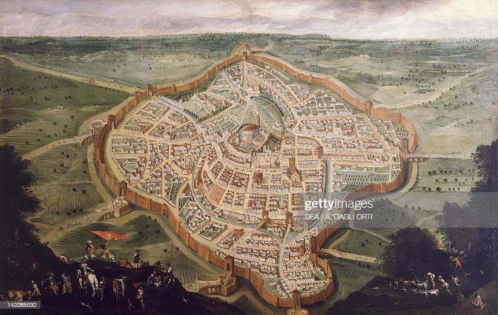 Perspective Map Of Udine By Luca Carlevaris Pictures Getty Images - Udine map