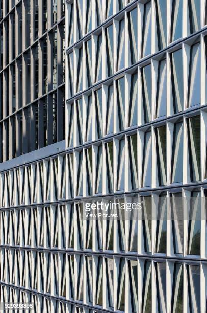 Perspective of facade cladding International Criminal Court Den Haag Den Haag Netherlands Architect Schmidt Hammer Lassen Ltd 2015