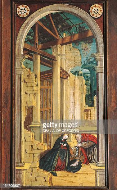 Perspective painted by Defendente Ferrari on the rear section of the 16th century choir Church of Saint Jerome Biella Italy 16th century