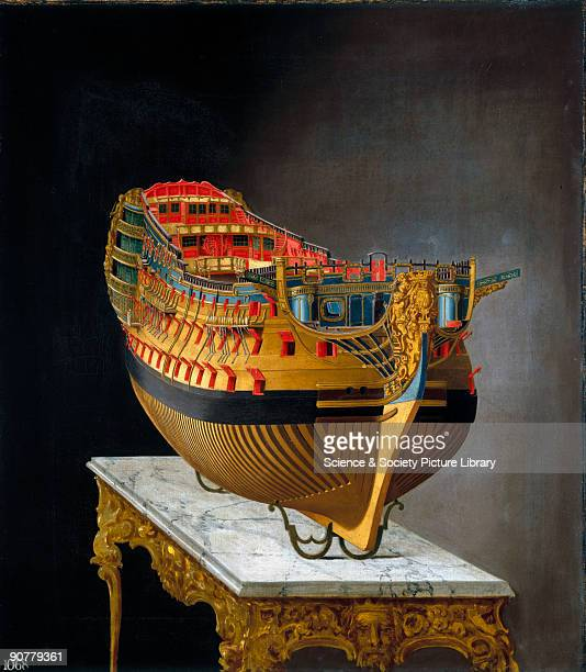Perspective painting of a whole hull model Possibly the most famous warship in the history of the Royal Navy HMS �Victory� was the flagship of...