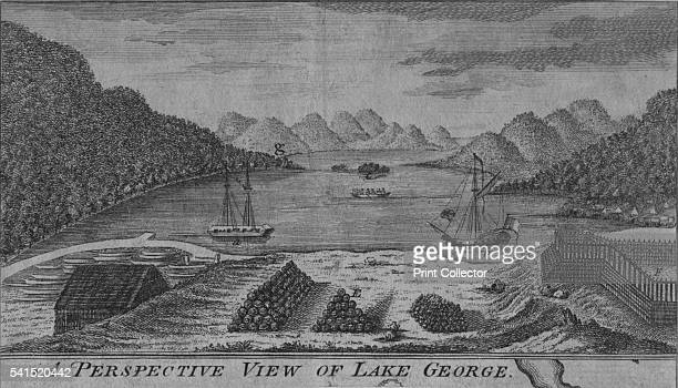 A Perspective View of Lake George' 1759 Publisher John Hinton Artist Unknown