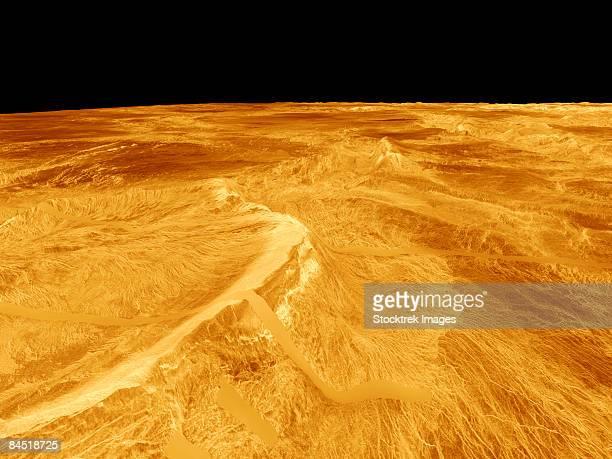 3D Perspective View of Latona Vorona and Dali Chasma on Venus.