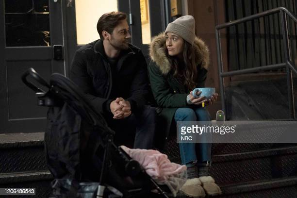 "Perspectives"" Episode 216 -- Pictured: Ryan Eggold as Dr. Max Goodwin, Alison Luff as Alice Healy --"