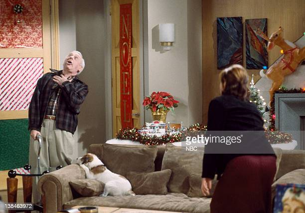 FRASIER Perspectives on Christmas Episode 9 Aired Pictured John Mahoney as Martin Crane Jane Leeves as Daphne Moon