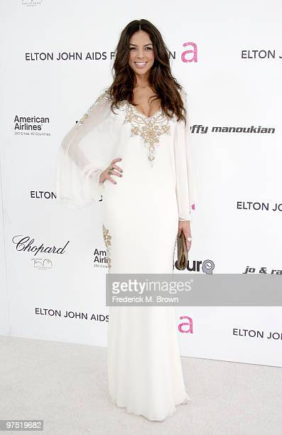 TV perssonality Terri Seymour arrives at the 18th annual Elton John AIDS Foundation Oscar Party held at Pacific Design Center on March 7 2010 in West...