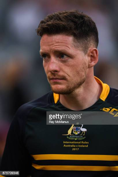 Perth Australia 18 November 2017 Conor McManus of Ireland after the Virgin Australia International Rules Series 2nd test at the Domain Stadium in...