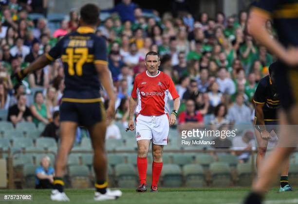 Perth Australia 18 November 2017 Referee Maurice Deegan during the Virgin Australia International Rules Series 2nd test at the Domain Stadium in...