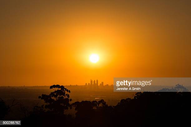 perth city - heat haze stock pictures, royalty-free photos & images