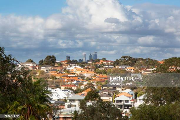 perth city - perth australia stock photos and pictures
