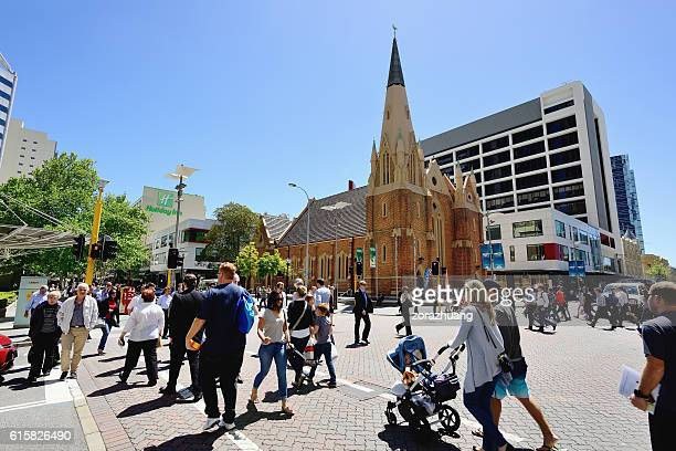perth city scene - perth stock pictures, royalty-free photos & images