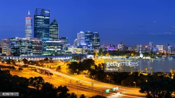 Perth Cityscape at Night, Western Australia