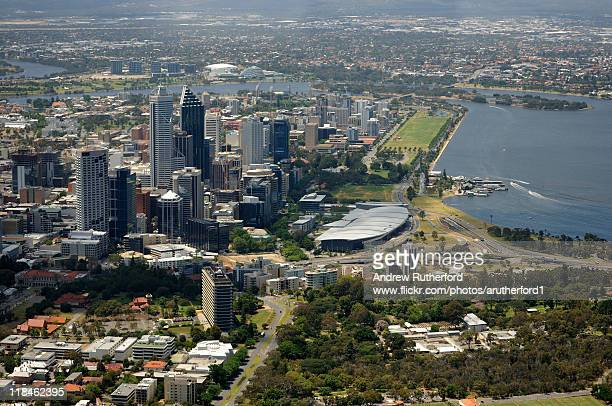 perth from air - perth stock pictures, royalty-free photos & images