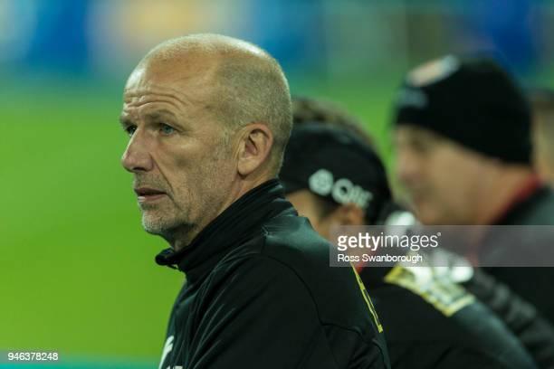 Perth Glory coach Kenny Lowe at nib Stadium on April 14 2018 in Perth Australia