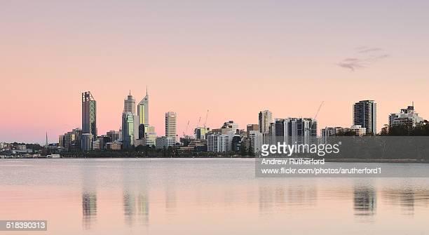 Perth Skyline At Dawn