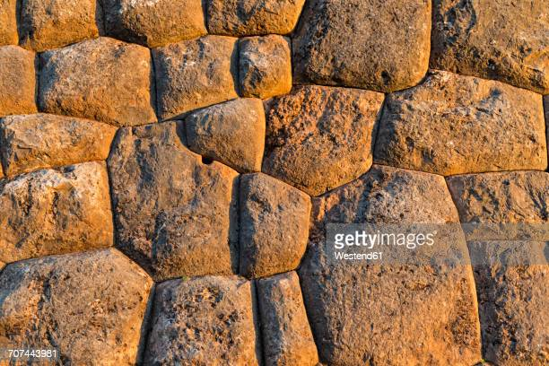 Peru, Andes, Chinchero, stone wall of Inca ruins