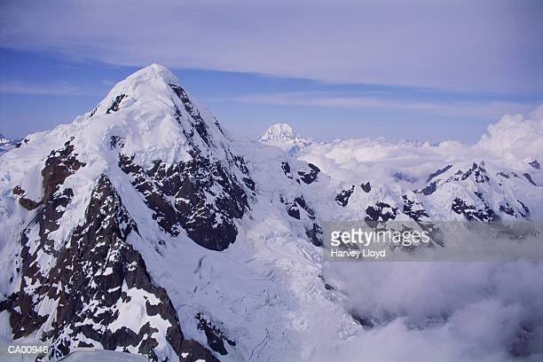 Peru, Andes Mountains, snowcapped peaks, aerial view