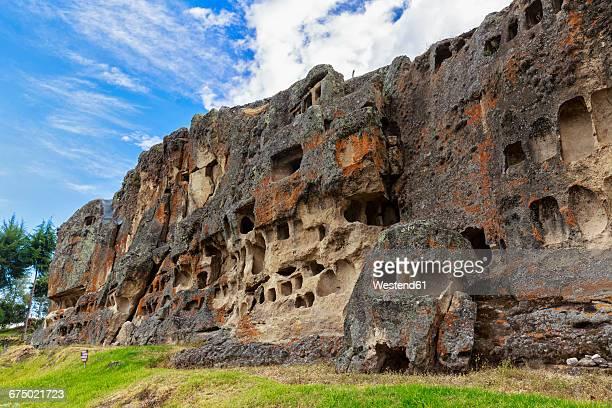 Peru, Cajamarca, Ventanillas de Otuzco, rock graves