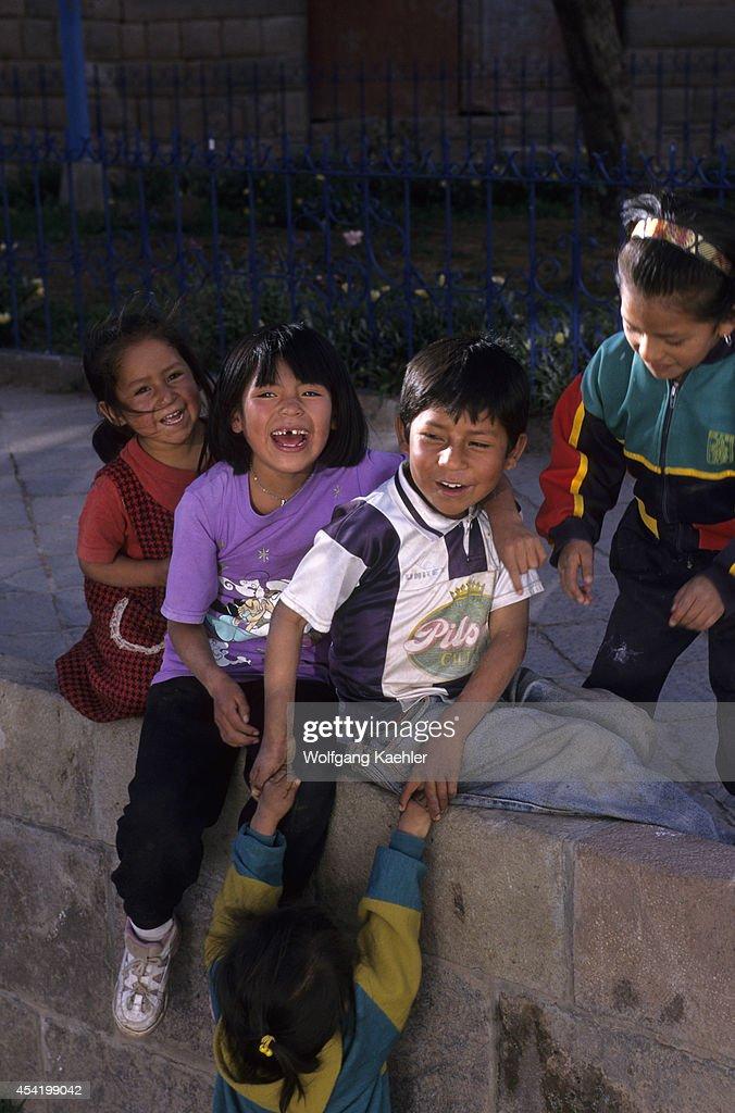 Peru, Cuzco, Local Children.