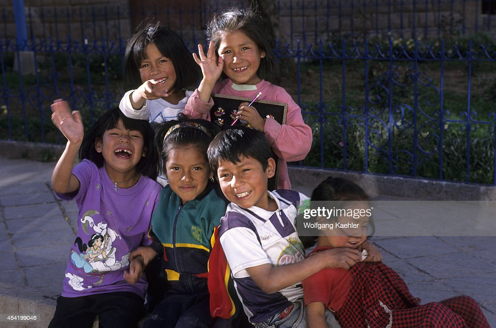 Peru, Cuzco, Local Children.
