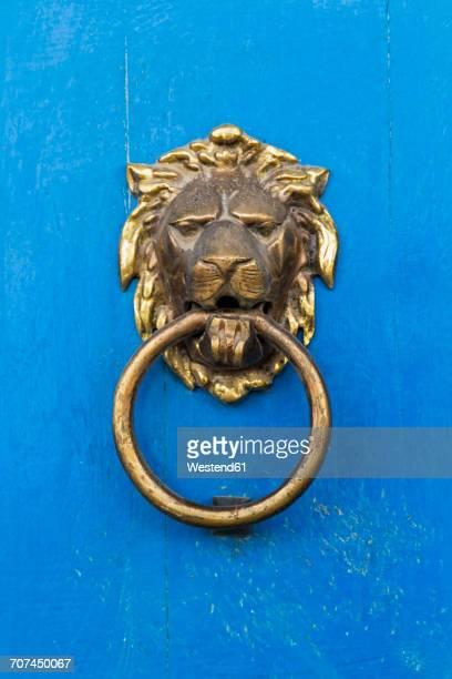 Peru, lions head door knocker
