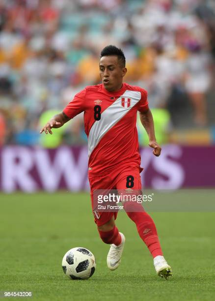 Peru player Christian Cueva in action during the 2018 FIFA World Cup Russia group C match between Australia and Peru at Fisht Stadium on June 26 2018...