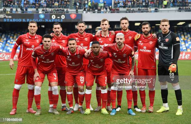 Perugia team before the Coppa Italia match between SSC Napoli and Perugia on January 14, 2020 in Naples, Italy.