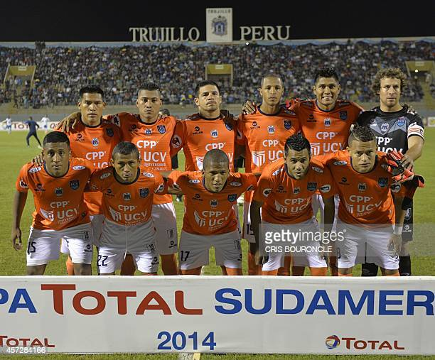 Perus Cesar Vallejo players pose for a picture prior to their Copa Sudamericana soccer game against Brazils Esporte Clube Bahia played at the...