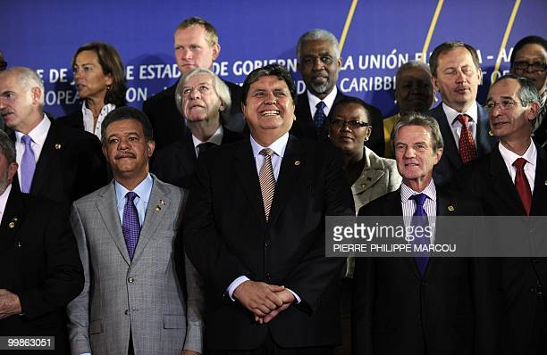 Peru's President Alan Garcia smiles during the group picture of the Sixth Summit of Heads of State and Government of the European UnionLatin America...